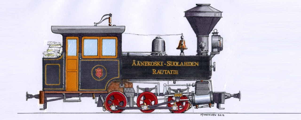 Drawing of the H.K. Porter steam locomotive